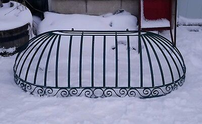 Antique Style Wrought Iron Door Canopy Industrial Salvage