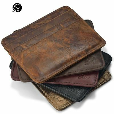 Leather magic wallet Credit Cart Wallet mini slim wallet card & id holders man w
