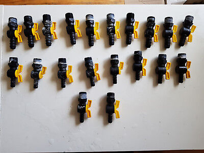 20 x 22mm Taps,Ideal for fish house water ring for multiple tank system.Used
