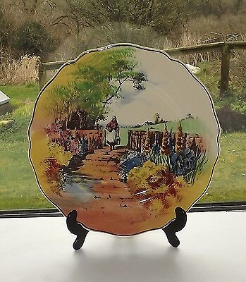 Royal Doulton Series Ware Cottage Garden Milk Maid Plate 26cm D4932 c1930s