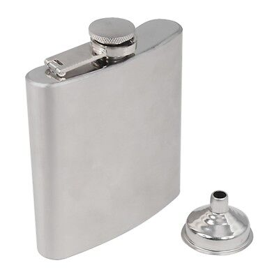 Stainless Steel Hip Liquor Whiskey Alcohol Pocket Flask Gift Box + Funnel Y5T1