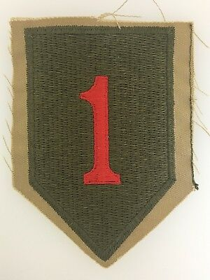 ORIGINAL STYLE WW2 American US Army WWII 1st Infantry Division sleeve patch