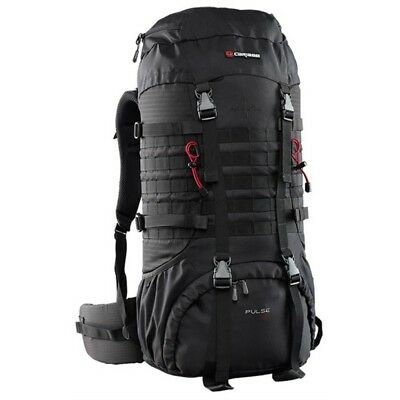 Caribee Pulse Rucksack Hydration Compatible Perfect For Camping/hiking-Black 65L