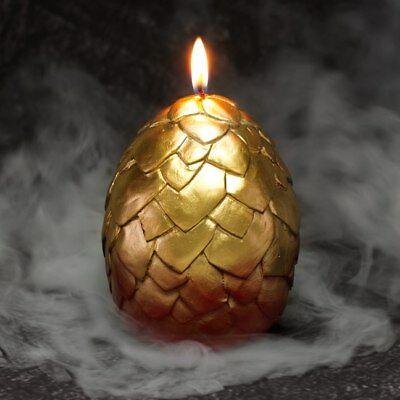 Hatching Dragon Egg Candle with Porcelain Baby Dragon Inside