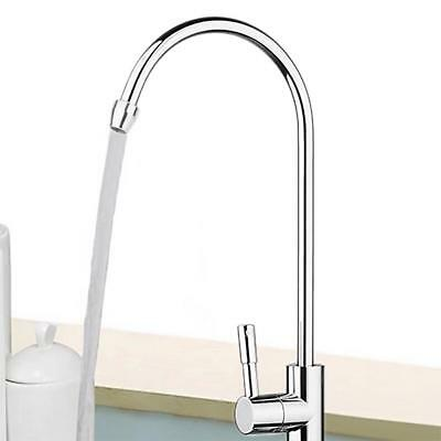 "1pc 1/4"" Drinking Water Faucets 360 Degree Chrome Osmosis Drinking RO Water"