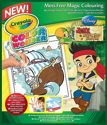 Crayola Disney Jr Jake and the Neverland Pirates Mess Free Magic Colouring Book