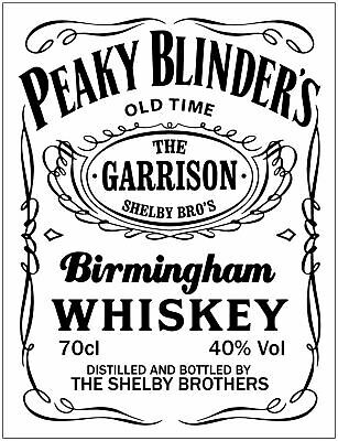 Peaky Blinders Pub Whisky VINTAGE METAL Shed SIGN TIN RETRO GARAGE BAR Man CAVE