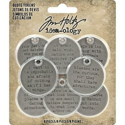Tim Holtz Idea-Ology - Quote Tokens - 8 Round Tags - NEW!