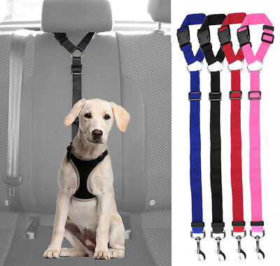 Pets Dog Car Seat Belt Vehicle Safety Harness Nylon Leash Lead Clip Adjustable