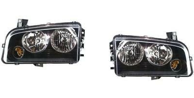 Headlights Pair For Dodge Charger 2006-2010 Halogen Left And Right Amber Signal