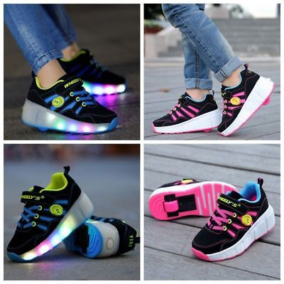 2018 Kids Girls Boys Skate Skates LED Shoes Size Light Up Heelys Shoes Uk sizes