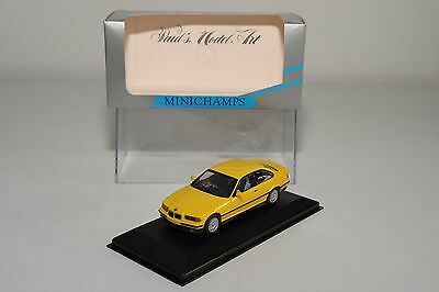 = Minichamps Bmw E36 3 Series 3Er Coupe Yellow Mint Boxed