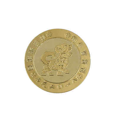 2pcs 2018 Year Of The Golden Dog Coin Chinese Zodiac Tourism Anniversary CoinsJB