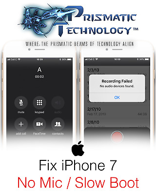 iPhone 7 7 Plus audio IC repair service boot loop and audio repair service