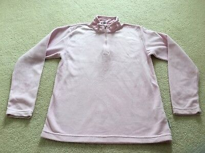 Girls Quechua Decathlon Pink Fleece Top Sports Hiking. Age 12 Years.