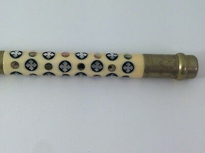 Antique Ebony Conductors Baton Mother of Pearl Inlay MOP Wand