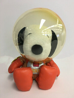 "Space Astronaut Snoopy Peanuts 7"" Plush Year of 2000 Asia McDonald's Toy"