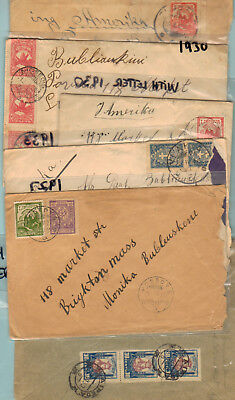 Lithuania (6) Early Covers 1926-1933 (5) W/ Letters Inside