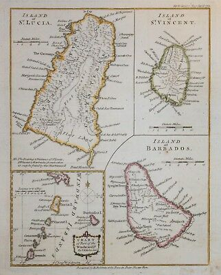 West Indies - St. Lucia, St. Vincent, Barbados. For The London Magaine, 1782..