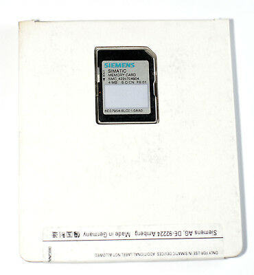 NEW Siemens simatic memory card 4 MB for S7-1200 S7-1500 CPU 6ES7 954-8LC01-0AA0