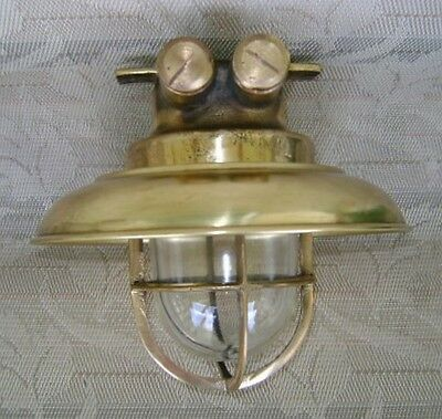 Multi-Use Cast Brass Ceiling Light With Brass Cover - Original Salvage #X