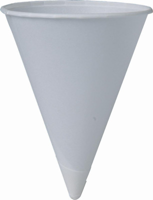 SOLO Cup Company Solo 4BR 200 Piece Cup Company Cone Water Cups, Cold, Paper, Wh