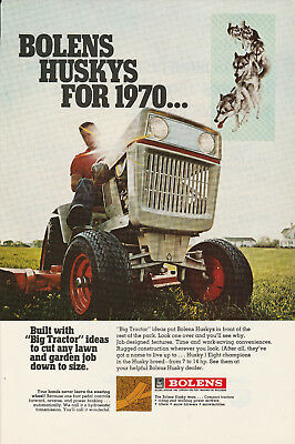 1970 Bolens Tractor Ad 1970s Agriculture Advertisement Farming