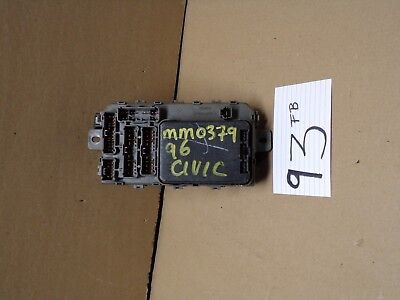 1996 honda civic used interior fuse box stock #93-fb