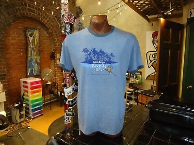 Captain Morgan Parrot Bay blue 2XL t-shirt, Enjoy the Real Island Experience