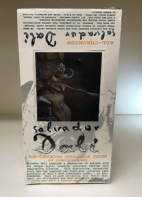 Salvador Dali All Chromium - Sealed Trading Card Hobby Box - Comic Images 1995