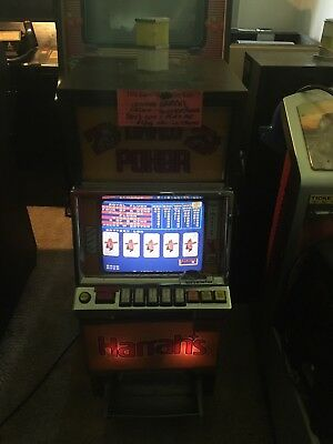 HARRAH'S CASINO - ORIGINAL BALLY QUARTER VIDEO POKER Slot Machine ANTIQUE!