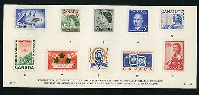 Weeda Canada VF Condition 1961 Souvenir Card #3a, card only no envelope CV $10