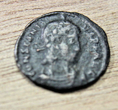 Constans AD 347-348 Thessalonica Follis Æ 16mm RIC 100 with flip id A1s coins
