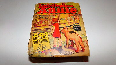 Little Orphan Annie And The Ancient Treasure Of AM, Better Little Book Gray 1939