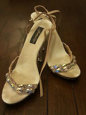 Johnathan Kayne Pageant Clear Nude Heels, Austria 9.5!