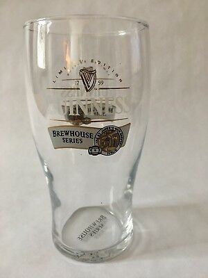 Guinness Brewhouse Series Beer Glass Pint Limited Edition St James Gate Dublin
