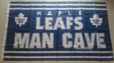 NHL Toronto Maple Leafs Man Cave Flag Banner New 3x5FT Polyester, free shipping