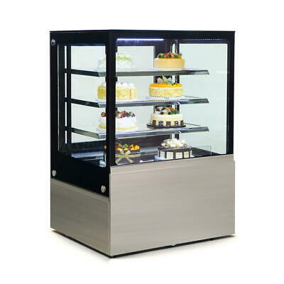 Commercial Display Fridge Cake Showcase 4 Layers 900mm length heated glass