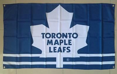 Toronto Maple Leafs Flag Four Brass Grommets 3x5FT Polyester NHL, free shipping