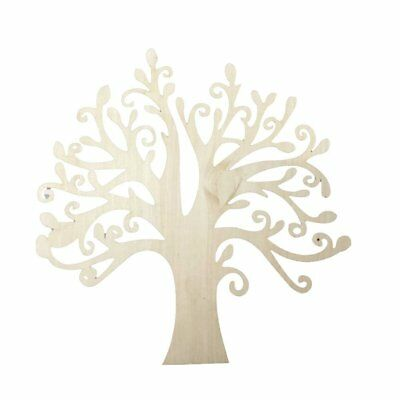 10pcs Wooden Tree Shape Embellishments Family Tree Wood Cutout Crafts