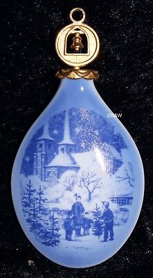 1997 ROYAL COPENHAGEN WEIHNACHTSORNAMENT / CHRISTMAS DROP TOP  Bing Grondahl