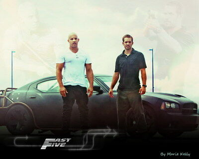 """027 Paul Walker - RIP Fast and Furious Super Movie Star 17""""x14"""" Poster"""