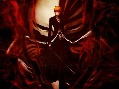 "032 Bleach - Dead Rukia Ichigo Fight Japan Anime 18""x14"" Poster"