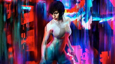 "080 Ghost In The Shell - Fight Riot Police Anime Hot Movie 42""x24"" Poster"