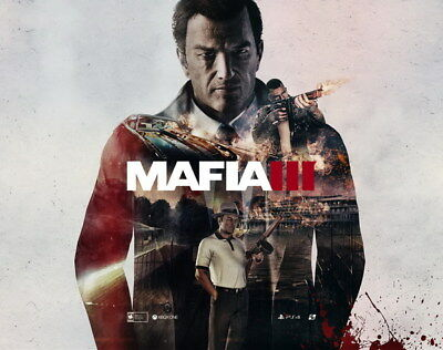 """011 Mafia 3 - Action Role Play Game 30""""x24"""" Poster"""