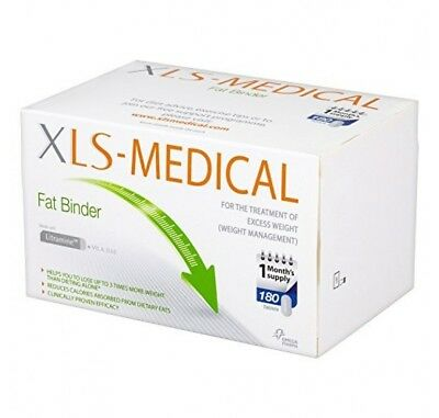 XLS Medical Fat Binder Tablets - 30, 60 and 180 packs available - Free Postage
