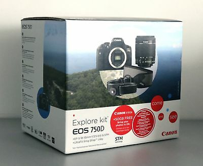 CANON Spiegelreflexkameras EOS 750D 18-55mm IS STM Explore Kit + Joby Strap