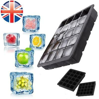 *UK Seller* 1~4X Silicone 20 Cavity Large Square Ice Cube Tray Jelly Mold Mould