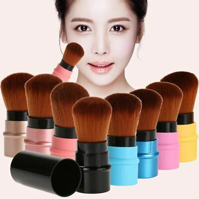Retractable Makeup Brush Mini Portable Face Powder Contour Foundation Blusher Br