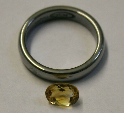 Natural Yellow Citrine Gemstone 6X8Mm Loose Oval Cut Faceted 1.2Ct Gem Ci21C